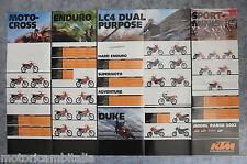 KTM MOTO 2002 ENDURO LC4 MOTOCROSS DUKE MINICROSS  POSTER CATALOGO BROCHURE