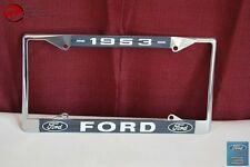 1953 Ford Car Pick Up Truck Front Rear License Plate Holder Chrome Frame New