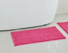 Red Pink Two Toned Chenille Microfiber Bath Rug by Color Reflections
