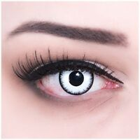 Coloured Contact Lenses black white Lunatic Contacts Color Carnival Halloween