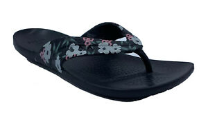 Crocs Womans  Kadee  Black Floral Printed Flip Flop US 8 EUR 38/
