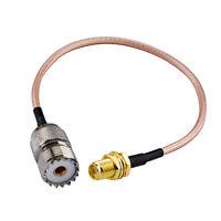 SMA Female to UHF SO-239 Female RG316 Cable,Ham Radio Antenna Adapter Cable 15cm