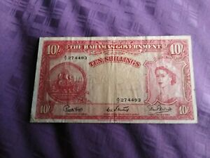 Bahamas Banknote 10 Shillings1953