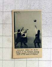 1919 Students Of The Stockwell Training College Playing Basketball Clapham