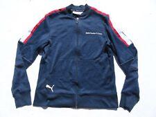 Mens PUMA BMW Sauber F1 Team Navy Striped Track Race Zip Jacket Small