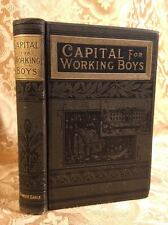 Capital for Working Boys Log Cabin Series Fine Binding Antique Book 1885