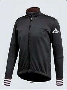ADIDAS Adistar Long Sleeve Cycling Jacket CW7727 Black MEN'S LARGE Retail $225