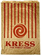 "KRESS Department ""Family Store"" Retail Paper Shopping Bag MCM GRAPHICS"