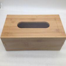 Classic Design Bamboo Tissue Box Holder Cover Wood Rectangular Rectangle
