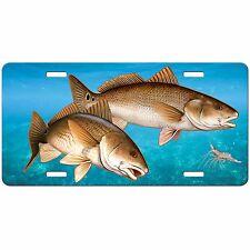 REDFISH FISHING CUSTOM LICENSE PLATE CAR TAG VANITY PLATE BLUE WATER FISH