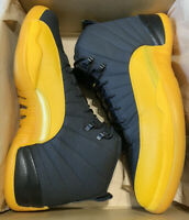 Nike Air Jordan Retro 12 University Gold Black Yellow 130690-070 Shoes Sz 17 NEW