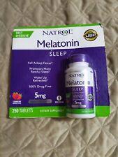 Natrol Melatonin 5 mg - 250 Fast Dissolve Strawberry Flavor Tablets 12/2021