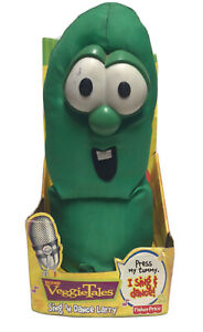 Vintage Veggie Tales Fisher Price Sing 'N Dance Larry Plush Toy Works New 2000