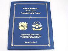 Wayne Gretzky 22Kt Gold Championship 4 Card Set 1983 84 86 87 UDA Danbury Mint