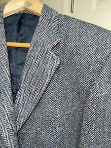 MAGEE TWEED vintage coat brown and red S44 sm