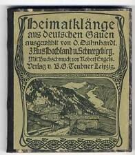 Deutschland Heimat Lieder Buch Nordsee Ostpreußen Österreich Alpen 2 Bände 1901
