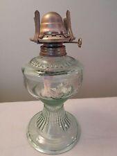 """Vintage Light Green Birds Oil Lamp Base 7"""""""