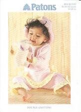 Precioso Doble Tejer patrón para bebé/Childs Pantalones túnica y sombrero 16-20 in
