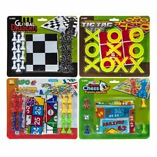 4 Games - Snakes & Ladder Draughts Tic Tac Toe Goose Chess - Christmas Gift