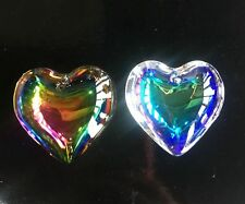 2Pcs 45mm Heart-shaped Top quality crystal glass beads for jewelry making DIY