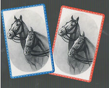 Playing Swap Cards  2 VINT PAIR  U.S. HORSE  HEADS  READY FOR A GALLOP!!!  W302