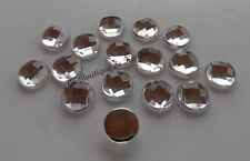 LOT 20 PERLES STRASS ROND A COLLER ACRYLIQUE TRANSPARENT 16 mm - CREATION BIJOUX