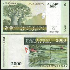 MADAGASCAR  2000 Ariary 2008 UNC P 90 b