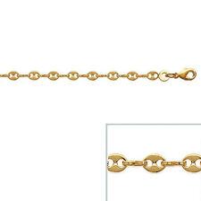 Bracelet Femme GRAIN de café en plaqué or 18 cm NEUF