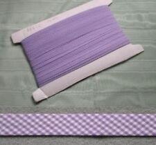 Gingham Bias Binding Lilac - 25mm wide 10 meters