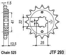 Honda VT 600 C Shadow, VT600, PC21, Ritzel 16 Z, Keilwelle, JTF 293-16, sprocket