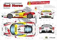 "[FFSMC Productions] Decals 1/18 Ferrari F-458 Challenge ""Red Horse"" (for Races)"