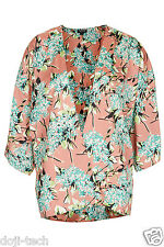 BNWT Topshop Floral Silky Vtg Kimono Summer Cover Up Jacket Cardigan 8 36 US4 S
