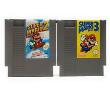 Super Mario Bros 2 + 3 NES Spiele Paket Getestet Sammlung PAL Nintendo Bundle