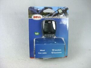 Bell Cyclocomputer Wired Dual Display 12 Function, New