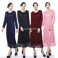 Islamic Lady Arab Long Dress Abaya Muslim Women Cocktail Maxi Kaftan Jilbab Robe