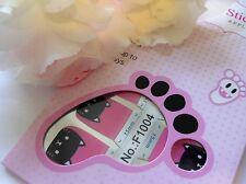 Nail Art Self Adhesive Full Toe Nails Polish Wrap Sticker Black Kitty Cat 1004T