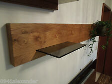 Wandboard Eiche Massiv Holz Glas Board Regal Glasregal Regalbrett NEU-au.auf Maß