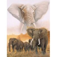 "5D Diy Diamond Painting""Elephant Family""3D Full Square Drill Embroidery Beads Cr"