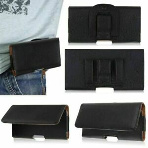 Universal Leather Belt Pouch case Loop Holster Cover for All Mobile Phone
