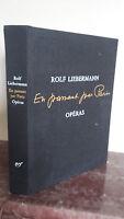 1980 Theatre Lírica Rolf Liebermann Óperas En Passant Por París / Gallimard / Be