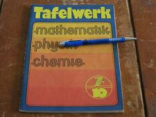 TAFELWERK - Klasse 7 bis 10 Volk und Wissen 1989 DDR - Mathematik Physik Chemie