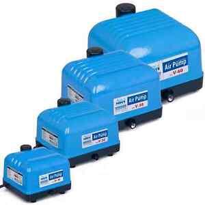 AquaForte Luftpumpe V-Serie Hi-Flow Sauerstoffpumpe Teich Belüfter Kompressor