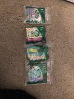 2003 McDonalds Polly Pocket Lot (4) #1 #2 #7 #8 Happy Meal Toys Sealed