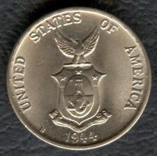1944-S US Administration Philippines 5 CENTAVOS Commonwealth Silver Coin #3 UNC