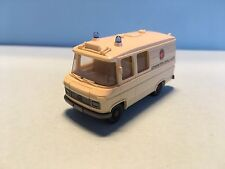 Wiking Mercedes Johanniter Unfall Hilfe Cream White 1/87 Scale Good Condition