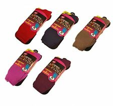 3 LADIES THERMAL HOT SOCKS EXTRA THICK 2.3 TOG ASSORTED 4-8 SIZE