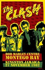 the Clash 1982 - Concert VINTAGE BAND Music POSTERS Rock Travel Old Advert #ob