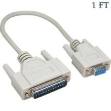 1ft 25 Pin DB25 Male to 9 Pin DB9 Female Serial COM Port Cable Printer Adapter
