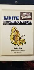 Brother Babylock Deco Butterflies White Embroidery Designs Card