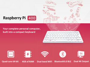 New Raspberry pi 400 personal computer kit compact keyboard